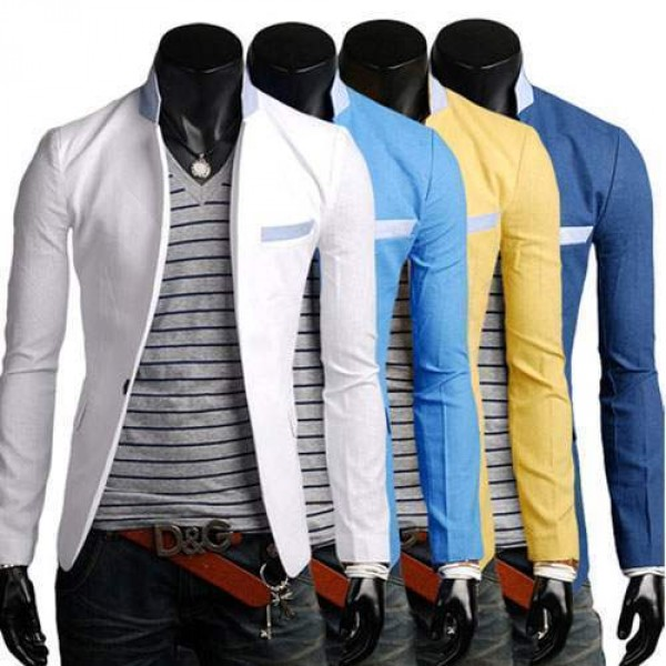 Veste Homme Lin Blazer Fashion jacket Men Suit slim fit Class Summer Elegance