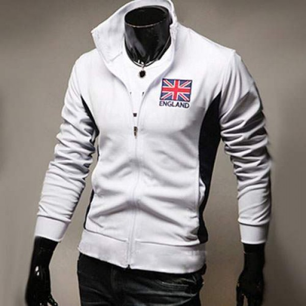 veste jogging homme fashion casual coupe du monde jacket sport angleterre blanc. Black Bedroom Furniture Sets. Home Design Ideas