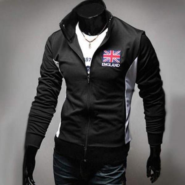 veste jogging homme fashion casual coupe du monde jacket sport angleterre noir. Black Bedroom Furniture Sets. Home Design Ideas