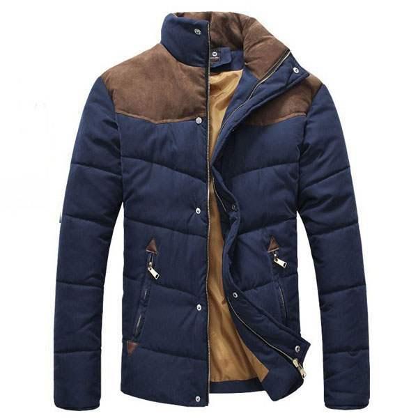 blouson homme fashion parka outdoor veste bleu fonce. Black Bedroom Furniture Sets. Home Design Ideas