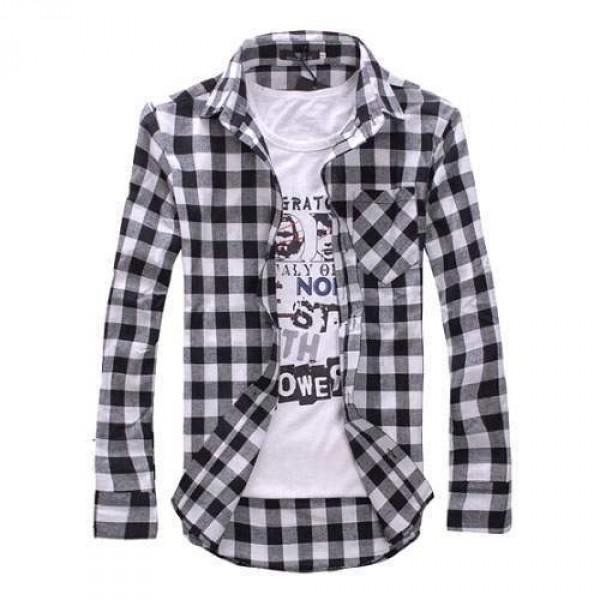 chemise carreaux noir blanc grunge scottish plaid fashion. Black Bedroom Furniture Sets. Home Design Ideas