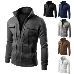 Gilet sweatshirt Zip Homme Sport Elegant Urban Workwear Fashion 2016