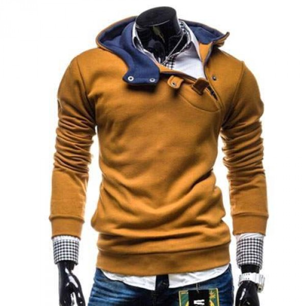 Hoodie Fashion Sweat Pull capuche Homme trendy 2016 Camel