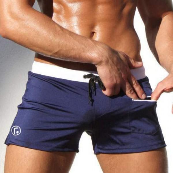 56760f40c3924 Maillot de bain Homme Short Plage sexy fashion Bleu marine