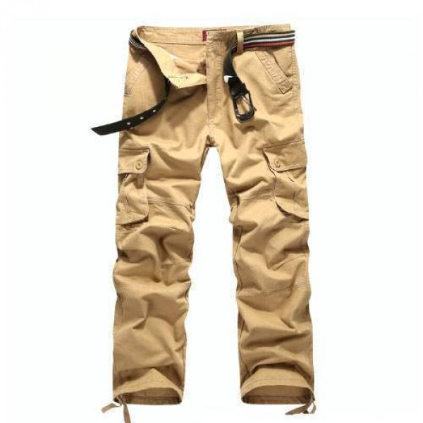 pantalon homme cargo essential men fashion poches militaire beige. Black Bedroom Furniture Sets. Home Design Ideas