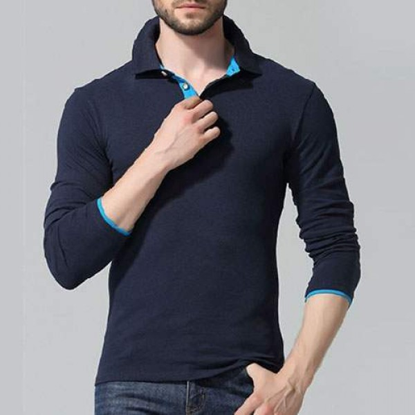 Polo Homme manches longues Elegant Classy Uni Sexy