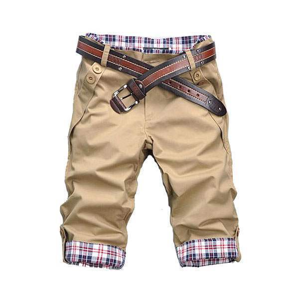 Short Bermuda Homme Fashion Slim Fit Sport Casual Khaki