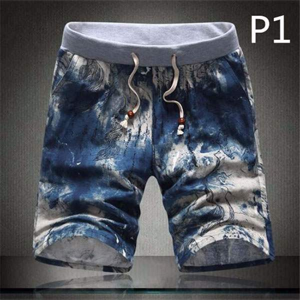 Short Bermuda Homme Cool Patchwork Hipster Paisley fashion P1