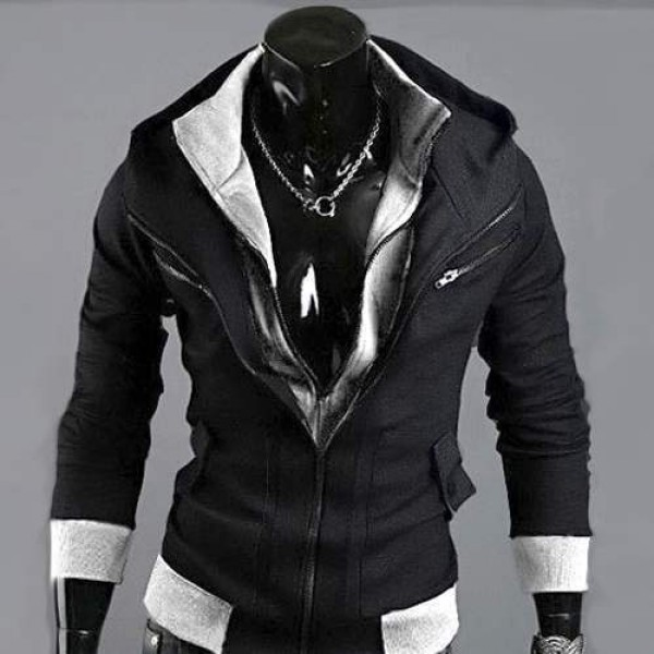 Sweatshirt hoodie Sweat à capuche Gilet outwear Sport Men fashion Noir
