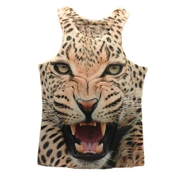 t shirt debardeur effet 3d leopard tiger swag rock men fashion. Black Bedroom Furniture Sets. Home Design Ideas