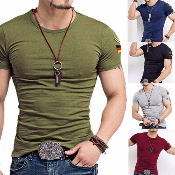 T Shirt Homme Col Rond Military Summer 7 couleurs