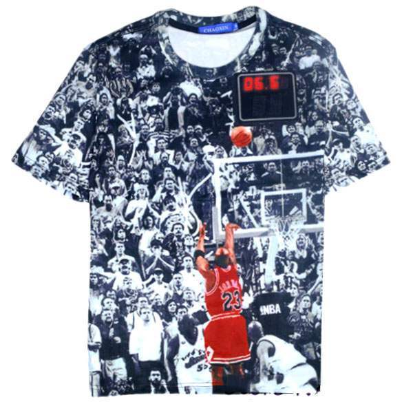 T-shirt à manches courtes Casual Unisex Fashion Hip hop Jordan Print