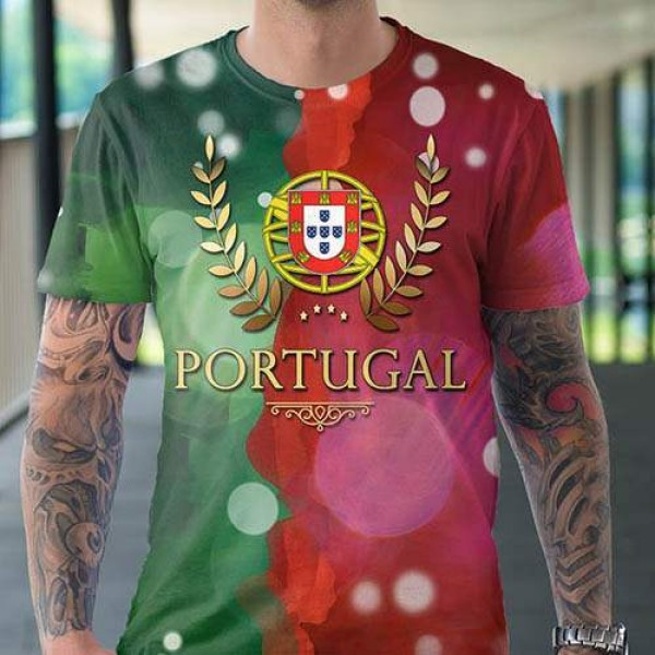 T Shirt Homme EXCLUSIF DESIGN PORTUGAL Flag Blason