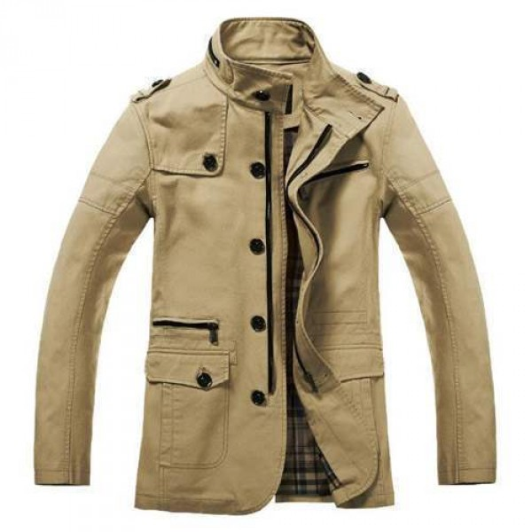 veste trendy fashion trench coat homme outwear classe beige. Black Bedroom Furniture Sets. Home Design Ideas