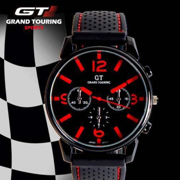montre homme sport racing gt men fashion quartz. Black Bedroom Furniture Sets. Home Design Ideas