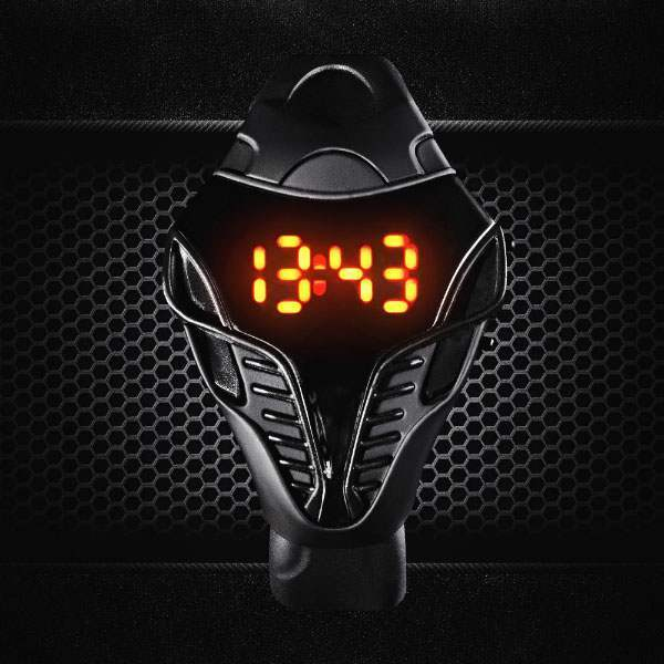 Montre Homme Cobra Sport LED Digital Fashion Iron man Black Noir