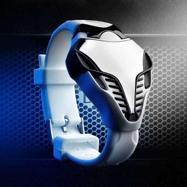 Montre Homme Cobra Sport LED Digital Fashion Iron man White Blanc