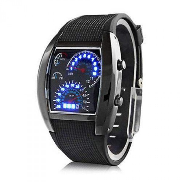 Montre homme LED Digital Cadran Rectangulaire Sport Luxury