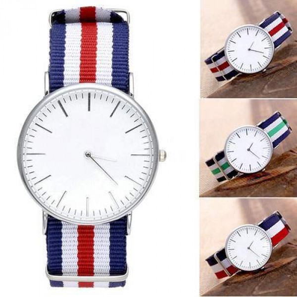 Montre Homme Cadran Rond Bracelet tricolore Fashion summer
