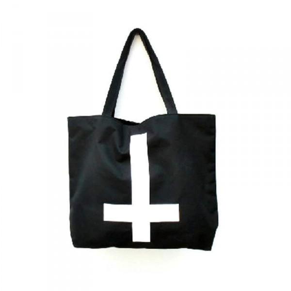 Sac cabas Punk Croix inverse Fashion 2013 Canvas shopping bag