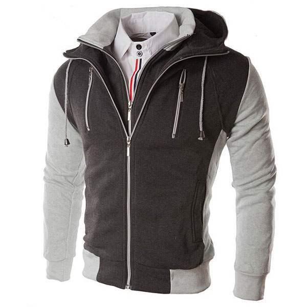 Veste Sweat Homme à Capuche Fashion Swag Gris