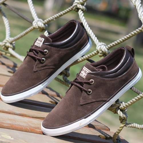 baskets bateau homme sneakers casual shoes canvas toile chic marron. Black Bedroom Furniture Sets. Home Design Ideas