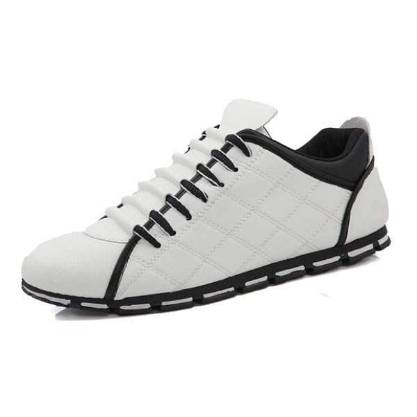revendeur a84cc 0d649 Baskets Homme Sport Design Fashion luxe Men Sneakers respirables Blanc