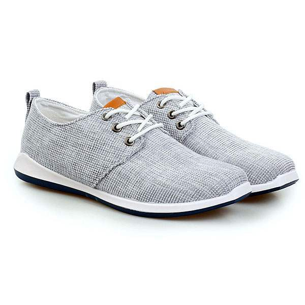 9f94e9d7f76 Chaussures Homme Toile Casual Summer Sport Confort lacets Gris clair