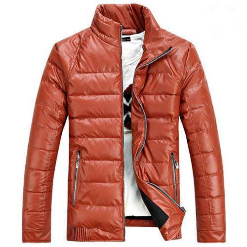 blouson doudoune homme luxury courte sport matelasse chic swag orange. Black Bedroom Furniture Sets. Home Design Ideas
