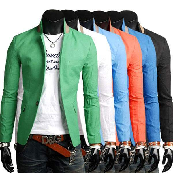 veste homme fashion jacket men suit slim fit class summer hot. Black Bedroom Furniture Sets. Home Design Ideas