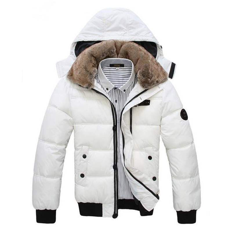 doudoune homme sport chic luxe fourrure parka fashion blanche. Black Bedroom Furniture Sets. Home Design Ideas