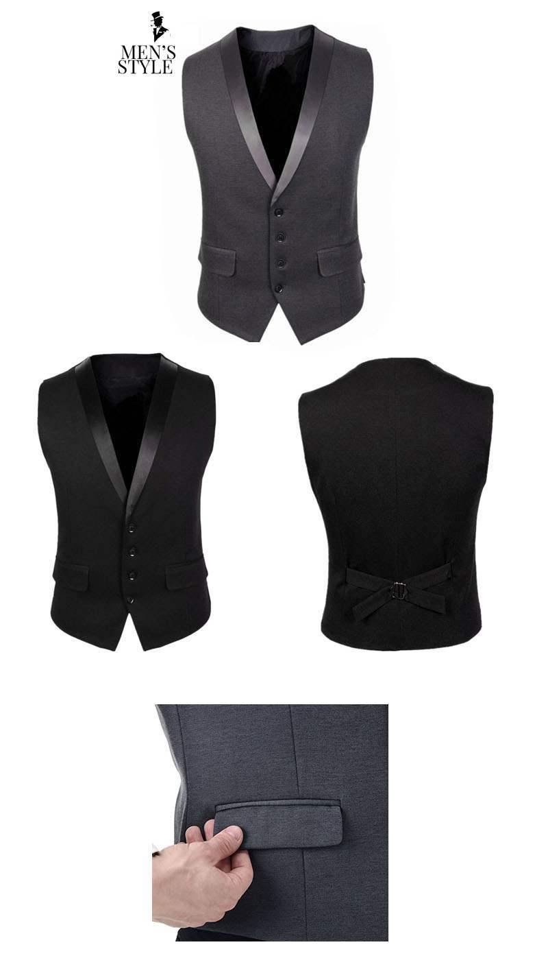 gilet veston costume homme elegant ceremonie noir gris suit affair. Black Bedroom Furniture Sets. Home Design Ideas