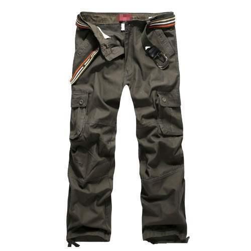 pantalon homme cargo essential men fashion poches militaire vert. Black Bedroom Furniture Sets. Home Design Ideas