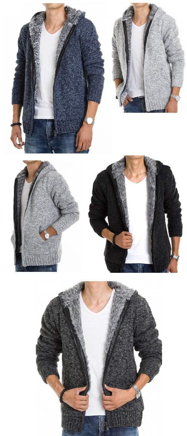 veste capuche fashion esprit gilet chaud homme fourrure coton laine gris clair. Black Bedroom Furniture Sets. Home Design Ideas