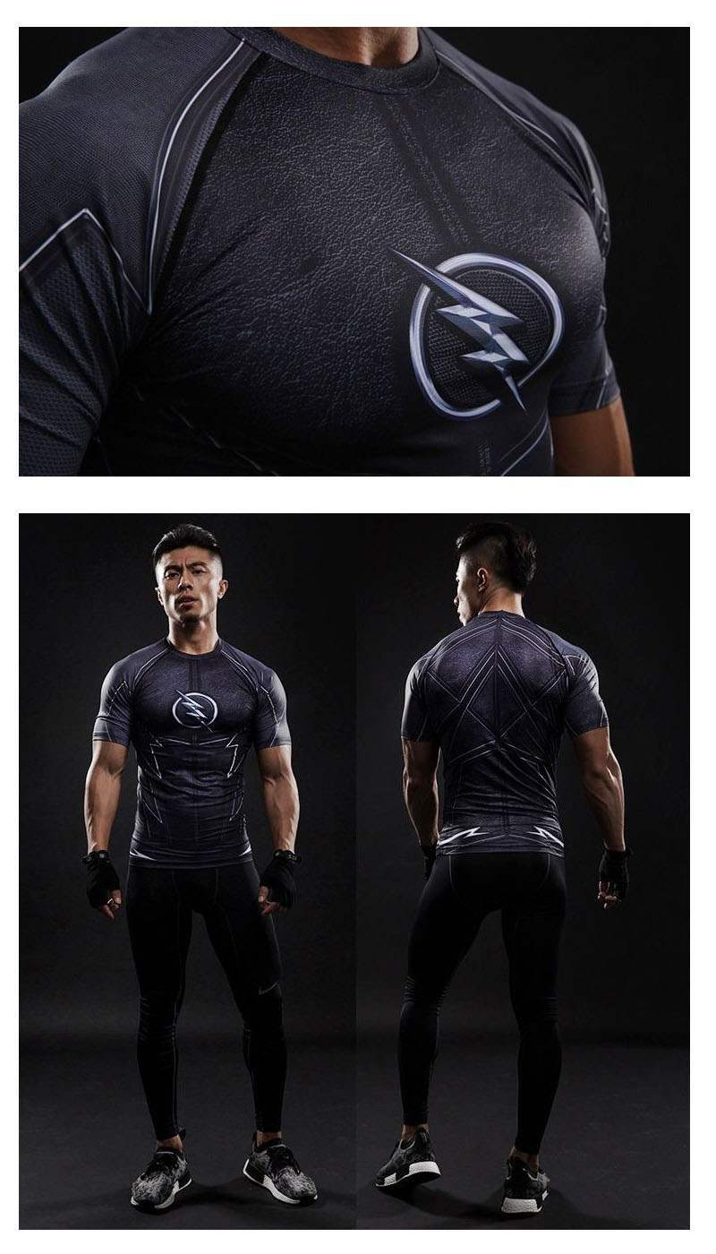Flash Homme 3d Zoom Compression Musculation The T Shirt eCxWBodr