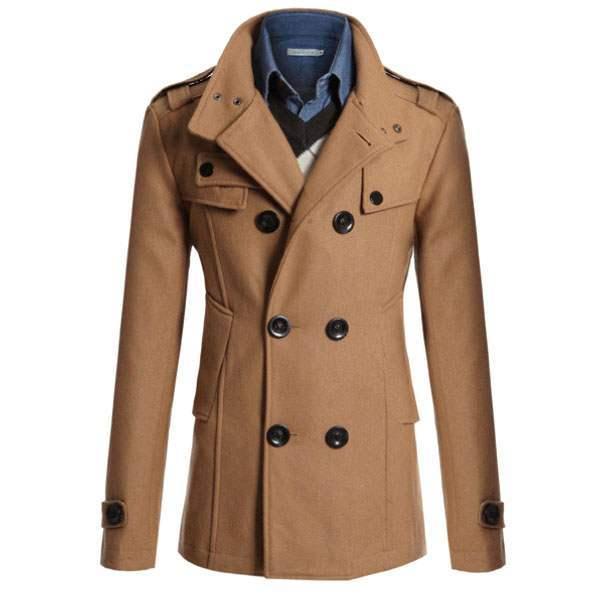 trench veste caban warm homme chic classique elegance beige. Black Bedroom Furniture Sets. Home Design Ideas
